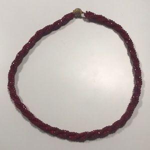 Stauer Garnet Necklace NWOT